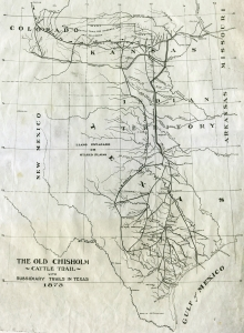 1873_Map_of_Chisholm_Trail_with_subsidiary_trails_in_Texas
