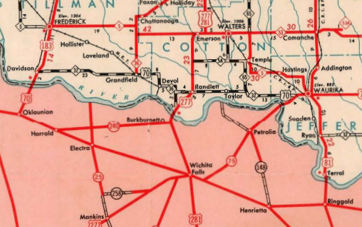 1948 Highway Map