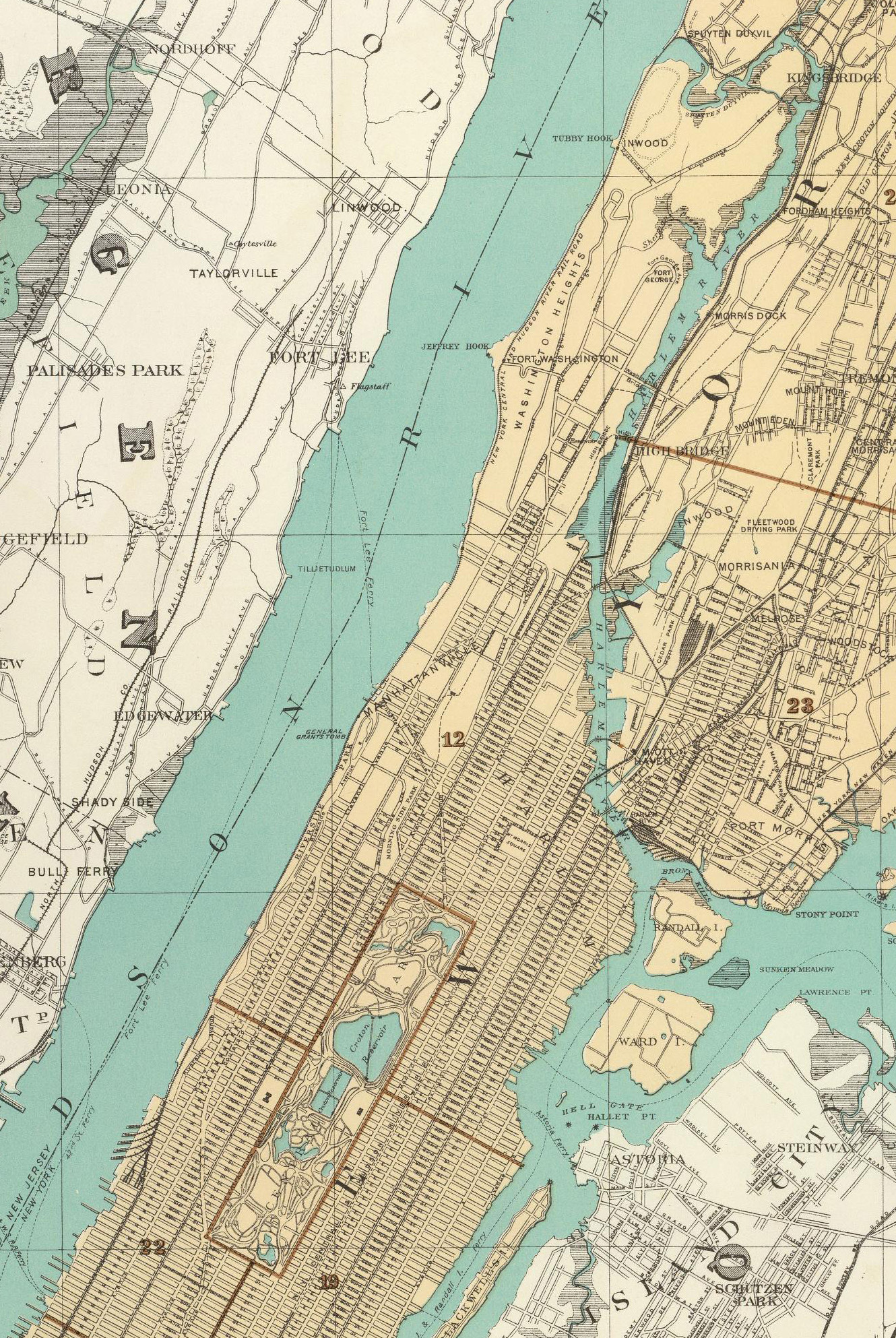 Historical Cities-New York City Central Park to Harlem is now ... on